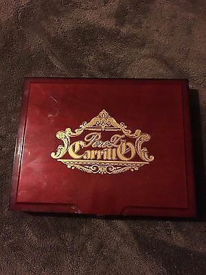 Solid Wood Empty Cigar Box - Perez Carrillo La Historia Le Senador