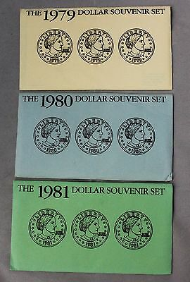 Complete Susan B. Anthony Souvenir Sets 1979, 1980, 1981