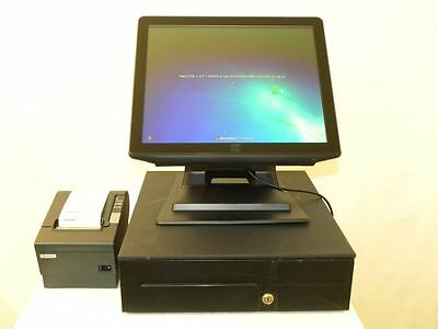 "Elo 17"" POS All-in-One Touch Computer Register 17B2 E309211 Inluded POS Software"