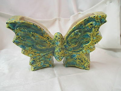 Vintage 1976 California ceramic Wall Pocket large Butterfly
