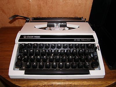Silver-Reed SR100 Tabulator Typewriter in grey & black, good condition