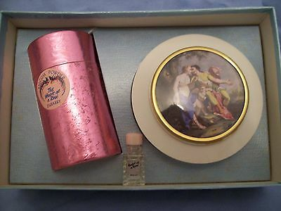 vintage perfume  -  Dubarry The Heart of a Rose Talcum Powder Bowl set and minia