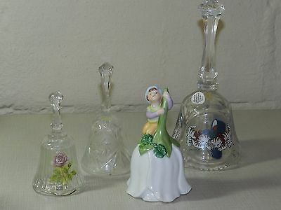 Vtg Bell Collection Crystal Fenton Avon Good Luck June Birthday Adriana Artmark