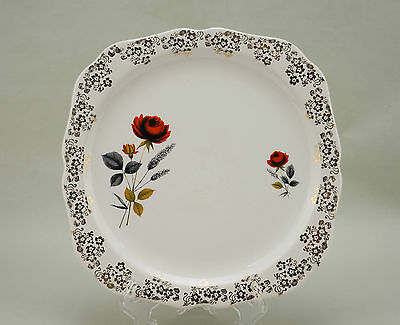 Vintage Lord Nelson Pottery, Rose Design English China Plate - VGC