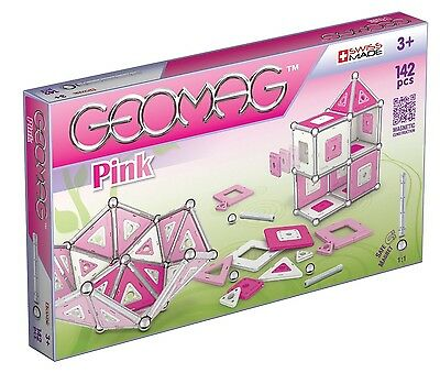 Geomag Assorted Pink Panels 142 PCS Building Toy Made In Swiss