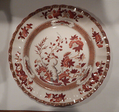 """Spode Indian Tree New Mark Dinner Plate 10 1/4"""" Made In England"""