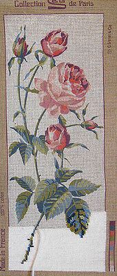 Pink Roses - SEG tapestry canvas to complete