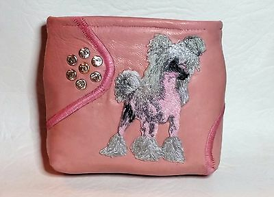 Chinese Crested LEATHER BAIT BAG POUCH DOG SHOW CRUFTS TRAINING PUPPY REWARD