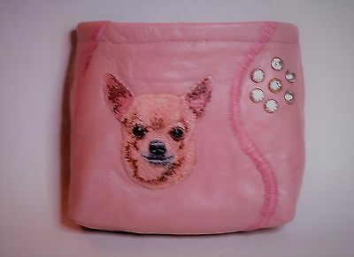 Chihuahua LEATHER BAIT BAG POUCH DOG SHOW CRUFTS TRAINING PUPPY REWARD XMAS GIFT