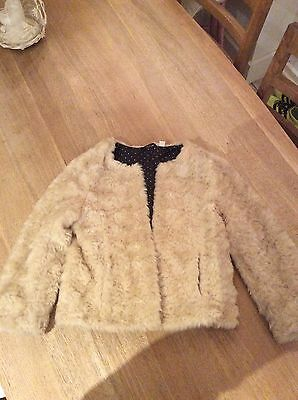 Gorgeous Girls Uniqlo Fur Coat Jacket Age 9-10