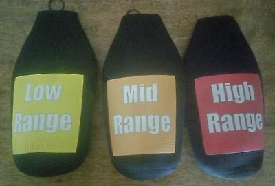 3 pack Long neck/ Tallie coolers novelty low, mid, high range drink driving