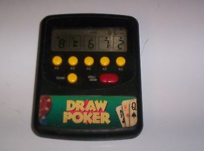 Retro Waco Draw Poker Hand Held Electronic Game