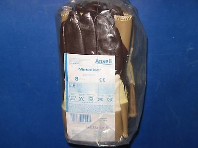 Ansell  Metalist  28-507  Cut-Protection  Coated  Gloves  12  Pair  Sz/8