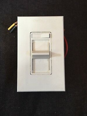 Leviton Fluorescent White Slide Light Dimmer Switch 277V 2-12 Lamp 86676-7W