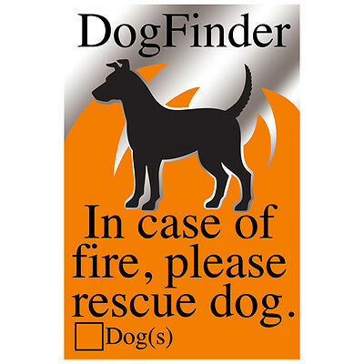 Dog Pet alert emergency rescue my dog window sticker in case of fire
