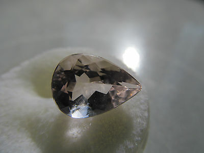 Delicate & Clear 3.54 Ct. Pretty Pink Pear Shaped Vintage Morganite 10Mm X15Mm