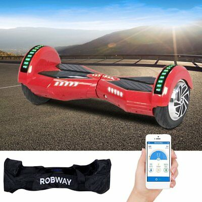 Bluetooth E-Scooter Hoverboard 8 Zoll E-Balance Scooter Elektroroller mit APP
