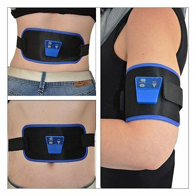 AB Gymnic Front Muscle Arm leg Waist Abdominal Massage Slim Fit Toning Belt JX#