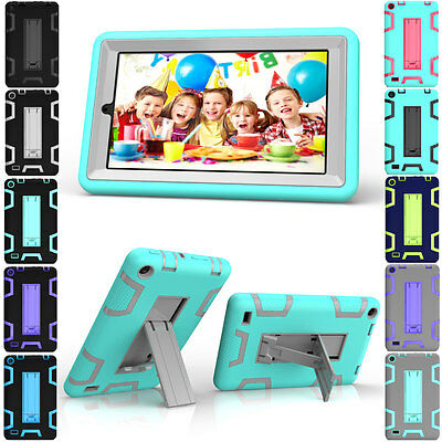 """Heavy Duty Hybrid Rubber Stand Case Cover For Amazon Kindle Fire 7 2015 5th 7"""""""