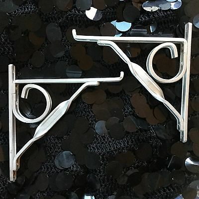 Vintage Flower Pot Hanging Brackets Decorative from the 50's Wind Chime Hangers