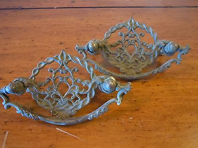 Antique Metal Drawer Pulls/ Set of Two