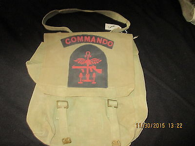 Original WW2 BRITISH SPECIAL OPERATIONS COMMANDO  PAINTED P37 BACK PACK W/STRAP