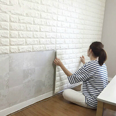3D Tile Brick Waterproof Wall Sticker Self-adhesive Panels Decor Decal Modern