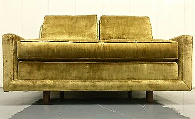 Surprising Mid Century Gold Tufted Velvet Lou Regester Down Loveseat Alphanode Cool Chair Designs And Ideas Alphanodeonline