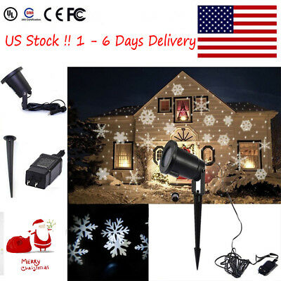 Moving Snowflake Landscape Laser Projector Light Lamp Outdoor Xmas