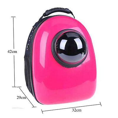 RED Astronaut Capsule Transparent Breathable Dog Cat Pet Backpack Carrier