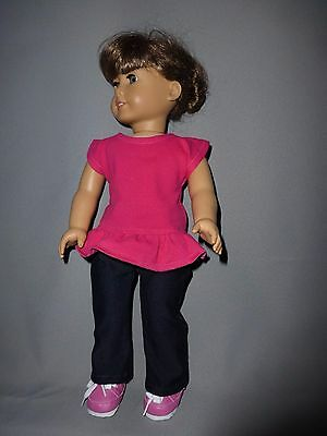 Doll Clothes for 18 inch dolls - American Girl - pants, blouse, shoes