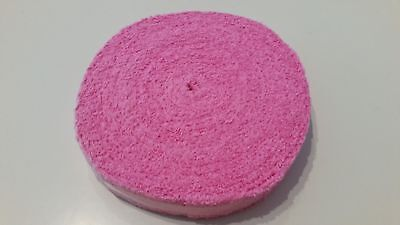Frottee Griffband 12 Meter Rolle pink Tennis Badminton Squasch NEU WOW