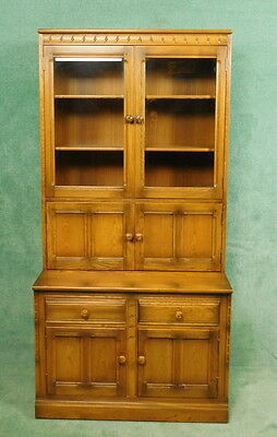 Ercol Mural Display Cabinet - Bookcase - Cocktail Cabinet - Golden Dawn