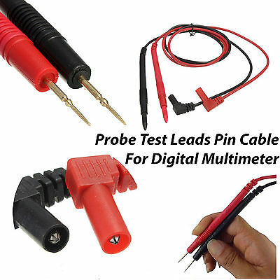 1x Pair Universal Probe Test Leads Pin Cable For Digital Multimeter Meter 10A