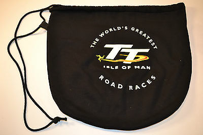 NEW Isle of Man TT Official Licensed Product Helmet Bag BLACK Motorcycle Race