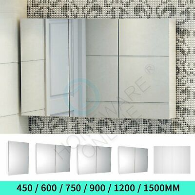 1200/900/750/600mm Bathroom Vanity Mirror Cabinet Medicine Shaving Pencil Bevel