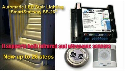 Controller for automatic illumination of stair steps SmartStairway SS-26