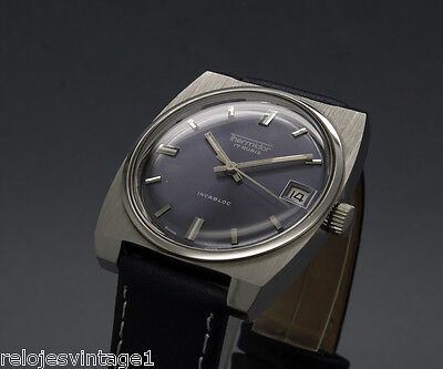 New Old Stock 34mm THERMIDOR vintage MECHANICAL watch NOS FHF 96-4