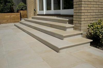 Indian Sandstone Mint Ivory Smooth Sawn Paving Patio Pack Slabs 20m2 for £445