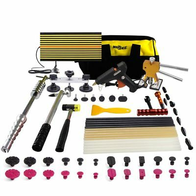PDR Dent Puller Lifter-Repair Hail Hammer Tool Paintless Removal Kit Glue Sticks