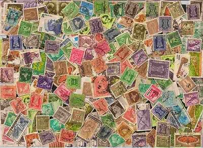 India Off Paper Kiloware 5000 Small & Large Definitives Used Stamps Mixture #2