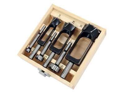 6 Piece Combination Forstner & Wood Plug Cutter Set in Wooden Case
