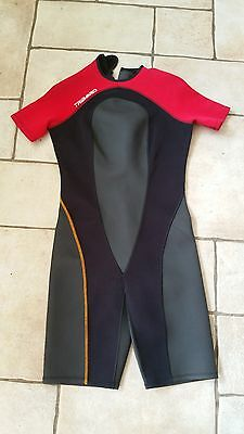 Tribord Freedive 2mm Shorty Wetsuit - Black / Red - Size M / 44