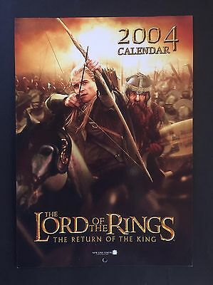 Lord Of The Rings - 2004 Calendar - Page Of 50 Stickers - Lotr Wall Calendar