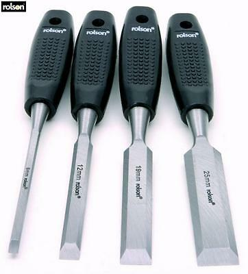Rolson Wood Chisel Set 4 Piece Hand Tool Accessory New