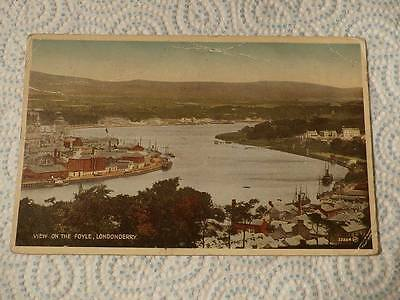 @ Vintage Postcard - View On The Foyle - Londonderry - Northern Ireland (H)