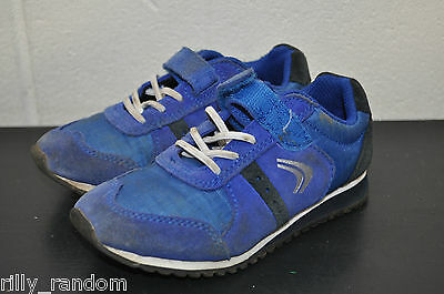 Clarkes Blue And Black Training Shoes Size 9G Used