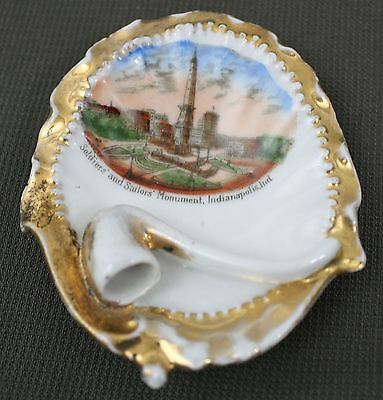 Vintage Soldiers and Sailors Monument Indianapolis, IN Souvenir Pin Tray/Dish