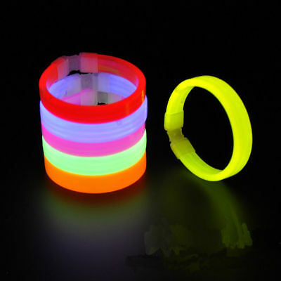 Slap Bracelets Arm Bands Dazzling Toy Glow in the Dark for Parties Sports Camp