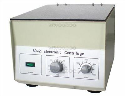 80-2 Electric Centrifuge Lab Medical Practice Timer 4000 Rpm 20 Ml × 12 1795*G X
